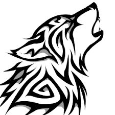Image result for tribal wolf art