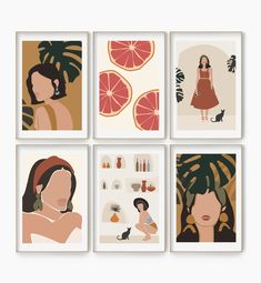 Abstract Gallery Wall Art – My Pretty Print Art Mini Toile, Abstract Wall Art, Abstract Faces, Abstract Portrait, Portrait Paintings, Painting Abstract, Abstract Paintings, Art Paintings, Modern Gallery Wall