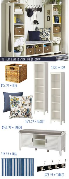 Pottery Barn Entryway Inspiration with Ikea Hacks! (I have a few ideas that would make it even cheaper.) decor pottery barn Pottery Barn Entryway Inspiration with Ikea Hacks! Pottery Barn Entryway, Ikea Hackers, Home Organization, Organizing, Home Projects, Small Spaces, Diy Home Decor, New Homes, House Design