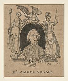 Engraving of Samuel Adams by Paul Revere, circa 1774. #americanrevolution #samueladams #paulrevere