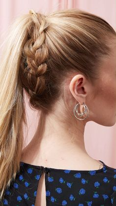 How to Create a Braided Ponytail Long Ponytail Hairstyles, Hair Ponytail Styles, Ponytail Hairstyles Tutorial, Formal Hairstyles, Formal Ponytail, Hairstyle Tutorials, Cute Hairstyles With Braids, High Pony Hairstyle, Hairstyle For Long Hair