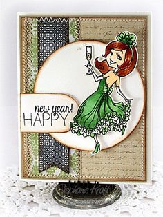 New Years Emily by Stephanie Kraft #SparkleCreations #SCRS #cards #cardmaking #rubberstamps