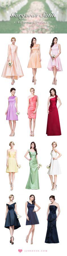 Gorgeous satin bridesmaid dresses collection. #bridesmaiddresses
