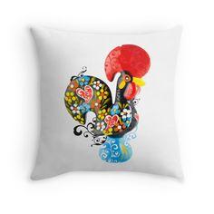 Symbols of Portugal - floral Rooster