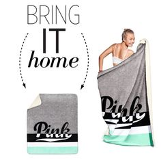 """Bring It Home: PINK Soft Sherpa Blanket"" by polyvore-editorial ❤ liked on Polyvore featuring interior, interiors, interior design, home, home decor, interior decorating, Victoria's Secret and bringithome"