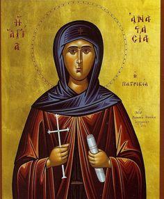Orthodox byzantine icon of Saint Anastasia Patrician of Alexandria – orthodoxmonasteryicons.com