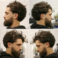 cortes de pelo hombre 2018, peinado hipster, barba media con bigote, efecto de múltiples capas