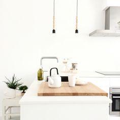 My Kvik-kitchen. Lamps from Bloomingville.