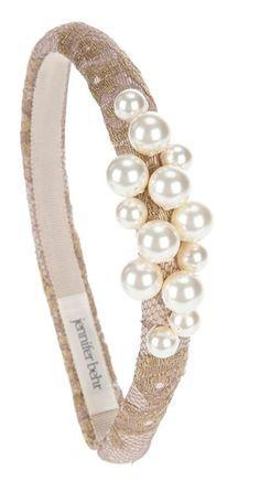 Jennifer Behr headband Fascinator Headband, Turban Headbands, Hair Jewelry, Beaded Jewelry, Beaded Bracelets, Diy Hair Accessories, Fashion Accessories, Diy Accessoires, Wedding Headband