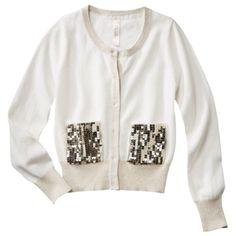 Cherokee® Girls' Sparkle Sweater - Polar Bear
