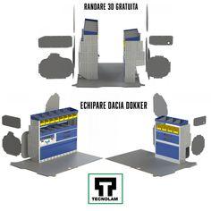 La Tecnolam găsești tot ce ai nevoie pentru duba ta Dacia Dokker Bookends, Games, Decor, Pickup Trucks, Automobile, Decoration, Gaming, Decorating, Plays
