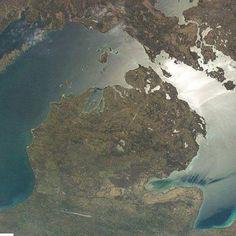 Satellite Photo of Michigan