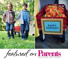 our harvest party featured on Parents!