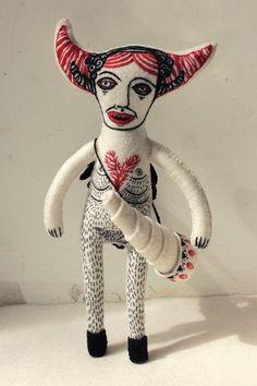 felt toys by Nadya Sheremet, via Behance