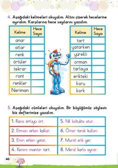 1. Sınıf Konu Anlatım EV ÇALIŞMALARI Grade 1, Learn English, Karma, Language, Education, Math, Learning, Books, Livros