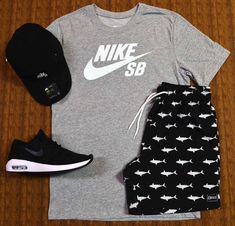 One of the best selling kits still in stock available in the physical … Dope Outfits For Guys, Cute Swag Outfits, Tomboy Outfits, Tomboy Fashion, Nike Outfits, Trendy Outfits, Beach Outfits, Hype Clothing, Mens Clothing Styles