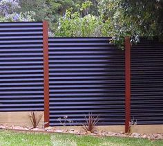 Top 50 Best Privacy Fence Ideas - Shielded Backyard Designs Privacy Fence Designs, Patio Privacy, Privacy Fences, Privacy Screens, Corrugated Metal Fence, Metal Fence Panels, Metal Pergola, Metal Fences, Sheet Metal Fence