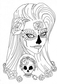 Sugar Skulls Coloring Pages | Printable Coloring Pages | coloring ...