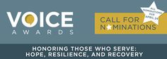 Voice Awards - Honoring Those Who Serve: Hope, Resilience, and Recovery - Call for Nominations - All nominations due by April 24, 2017. Pinned by the You Are Linked to Resources for Families of People with Substance Use  Disorder cell phone / tablet app March 31, 2017;  Android- https://play.google.com/store/apps/details?id=com.thousandcodes.urlinked.lite   iPhone -  https://itunes.apple.com/us/app/you-are-linked-to-resources/id743245884?mt=8com