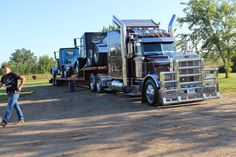 Pull trucks ready to unload!