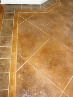 Stained concrete stone tile flooring ...tile look at an angle?