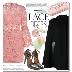 Party On: Long Sleeve Lace Dresses by beebeely-look on Polyvore featuring Versace, Clinique, LSA International, party, sammydress, lacedress, longsleeve and newyear