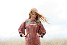 Vintage 70s HIPPIE Dress M L XL  Maxi TRIBAL by RubyChicBoutique, $117.00