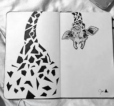 beautiful giraffe in my moleskine .- beautiful giraffe in my moleskine Kunstjournal Inspiration, Bullet Journal Inspiration, Stylo Art, Paintings Tumblr, Giraffe Art, Cute Giraffe Drawing, Arte Sketchbook, Pen Art, Art Drawings Sketches
