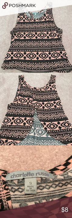 Charlotte Russe tank top Size small crop tank top Charlotte Russe Tops Tank Tops