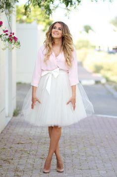 Poślubne losy białej spódnicy z tiulu  Mungolife   Więcej na blogu Madame Allure.