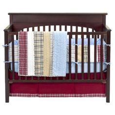 Bacati - Boys Stripes and Plaids 4 Pc Crib Bedding Set Bacati,http://www.amazon.com/dp/B0018SXEO2/ref=cm_sw_r_pi_dp_nysetb0FK5A7FVCN