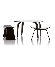 Take a look at this Espresso Hamachi Table & Chair Set on zulily today!