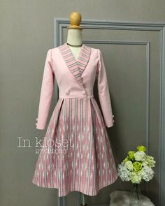 Elegant Dresses For Women, Casual Dresses, Short Dresses, Traditional Fashion, Traditional Dresses, Myanmar Dress Design, Batik Fashion, Batik Dress, One Piece Dress