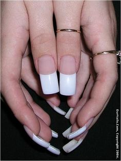 white-french-tip-nail-designs.jpg (360×480)