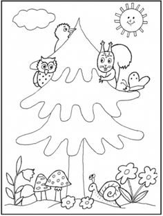 Wood Crafts, Diy And Crafts, Animal Coloring Pages, Forest Animals, Kindergarten, Preschool, 1, Birthday Parties, Drawings