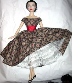 "Cotton Print Dress for 15"" Gene Doll"