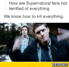 Years Of Supernatural Finally Pay Off <<plz even five minutes and I am 731% sure person will learn how to murder everything