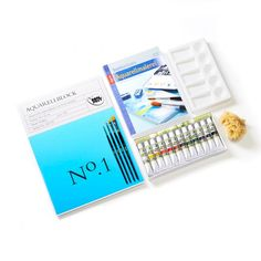 Starterkit Aquarell-Malerei Notebook, Watercolour Paintings, Hobbies, Art, Notebooks, Exercise Book, The Notebook
