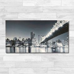 Quadro City - Stampa su Tela - Quadro Canvas 50x98x2cm • 100€ Ideale per arredare gli interni dallo stile moderno. Ottimo su superfici bianche o nere. Perfetto su pareti di mattoni bianchi.
