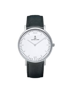 Kapten & Son Campus Silver & Black Leather - so in love, perfect watch, just bought it!