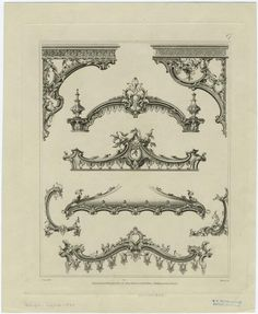 Decorative and ornamental design with acanthus, England, 19th century.