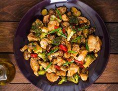Pui cu ciuperci şi broccoli - Retete culinare - Romanesti si din Bucataria internationala
