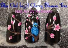 I am a nail technician who loves nail art. My videos will show you how to paint various designs, from simple and easy to much more det. Nail Art Flowers Designs, Flower Designs, Nail Art Designs, Tree Nail Art, Cherry Blossom Tree, Nail Technician, Love Nails, Beauty Nails, Owl