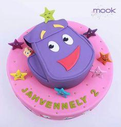 Dora's backpack cake