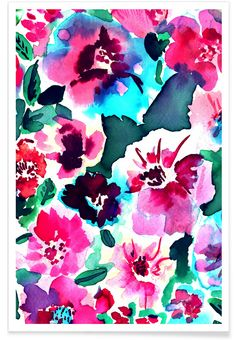 Zoe Floral Pink - Amy Sia - Premium Poster