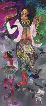 Hendra Gunawan - Snake Charmer sold for USD 705,168 by Christie's 2011