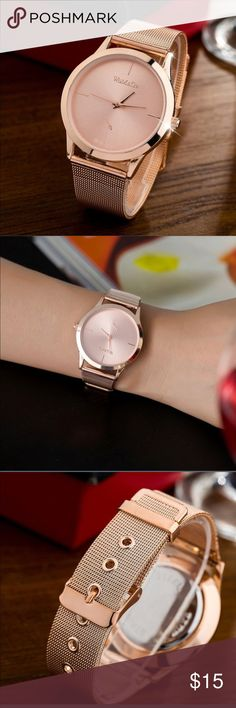 Rose Gold Watch Nwt trendy rose gold watch. Perfect for everyday and very stylish. Accessories Watches