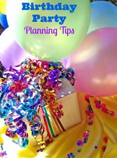 Thrifty Birthday Party Planning Tips for everything from selecting birthday party places to birthday party invitation ideas and birthday party favor ideas.