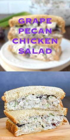 This easy chicken salad is loaded with fruit and nuts! Its delicious on bread salads or wraps. This easy chicken salad is loaded with fruit and nuts! Its delicious on bread salads or wraps. Pecan Chicken Salads, Chicken Salad Recipes, Yogurt Chicken, Salad Chicken, Recipe Chicken, Diced Chicken, Chicken Salad Recipe With Sour Cream And Mayo, Chicken Salad On Croissant, Chicken Salad Recipe With Cream Cheese