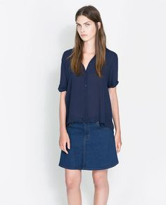 ZARA - NEW THIS WEEK - SHIRT WITH A PLEAT IN THE BACK